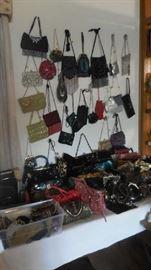 designer evening bags, Prada, Brighton, Rodo, A lot of them are sold, etc.
