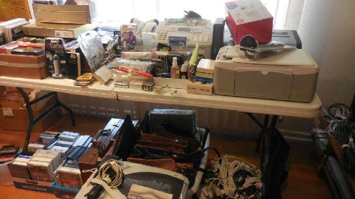 Panasonic fax, Epson printer, briefcases, HP photo smart/7660,office supply, etc.