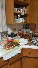 copper cookware, etc.