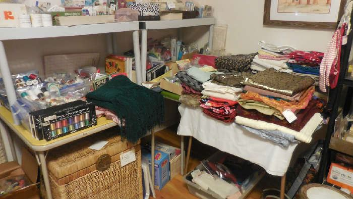 high end materials, sewing items, etc.