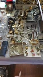 Waterford crystal desk clocks, liquid silver set, Brighton/Chico/Coldwater creek watches, magnifying glasses, etc. (Some are sold already)
