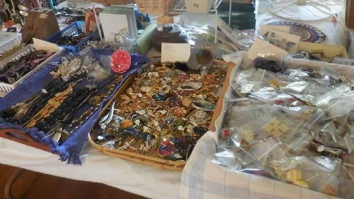 necklaces, pins, earrings, etc.