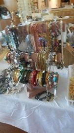 bracelets, bangles, necklaces, Jade, Turquoise, Coral, Amber etc. (Some of items are sold already)