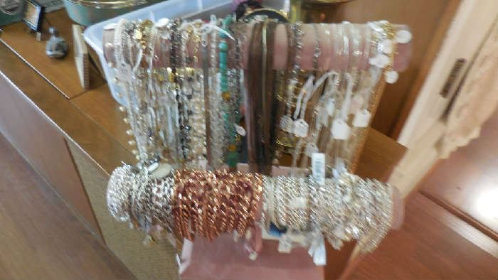 copper/pearl/925 necklaces and bracelets