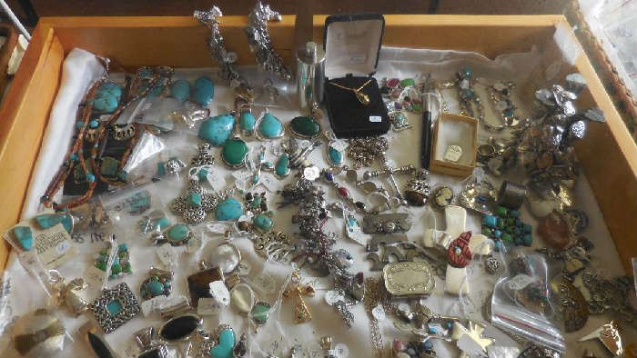 Sterling with semi precious stones