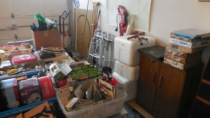 walkers, sewing cabinet, collectables, office supply