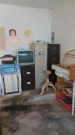 file cabinets, etc.