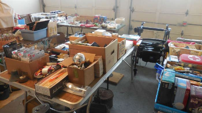 collectables, wheel chair, etc.