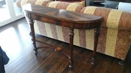Maitland Smith console or sofa table with inlay.