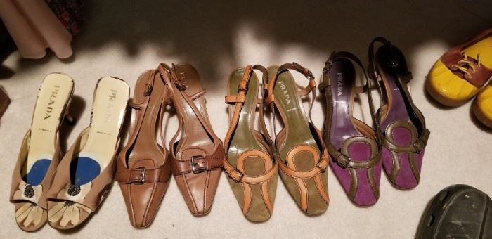 Prada,Ferragamo and more designer shoes size 9b