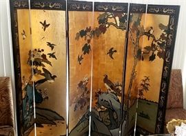 Great Vintage Asian Screen
