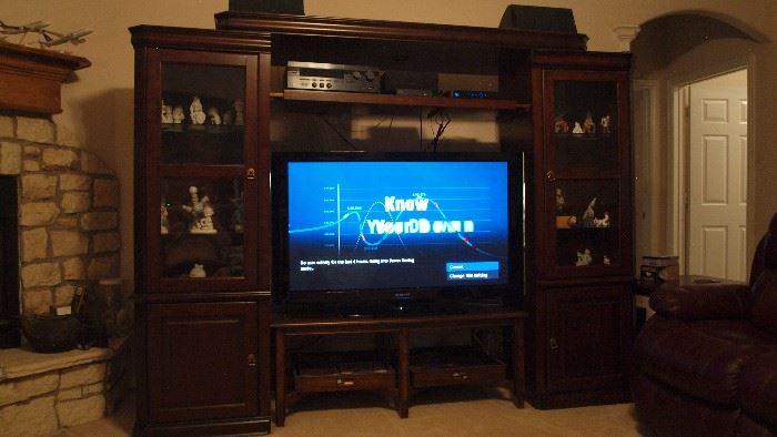 "Entertainment Center, 50"" Samsung Plasma TV"