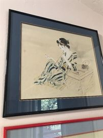 Chinese antique drawing