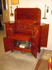 Chinese dry bar bought new in Singapore 1987 may be Taiwanese red wood/teak