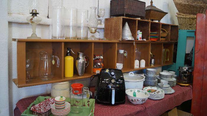décor, lamps, pitchers, crock pot, air fryer, china