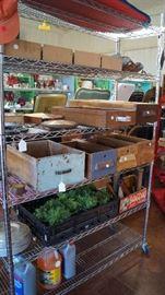 wood drawers, vintage items