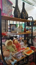 Cabbage Patch dolls, Barbies, toys
