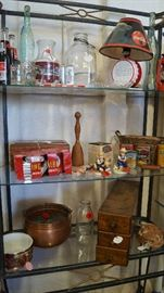 Coke items, Prince Albert cans, copper items