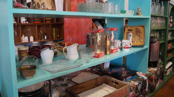 pitchers, cokes, décor, Princess House Coffee set