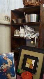 small appliances, wall decor