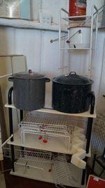 granite ware, storage racks