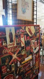 framed Coke puzzle