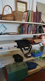 books, tool box