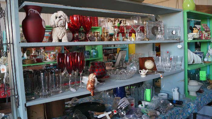 stemware, glass, utensils