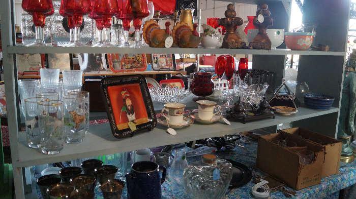 glass ware, décor, tea cups, hostess sets