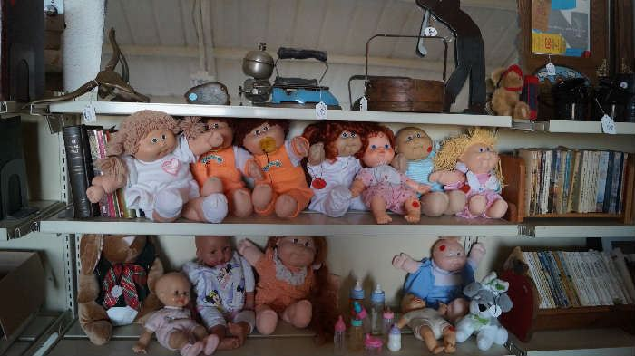 Cabbage Patch dolls, dolls, vintage iron