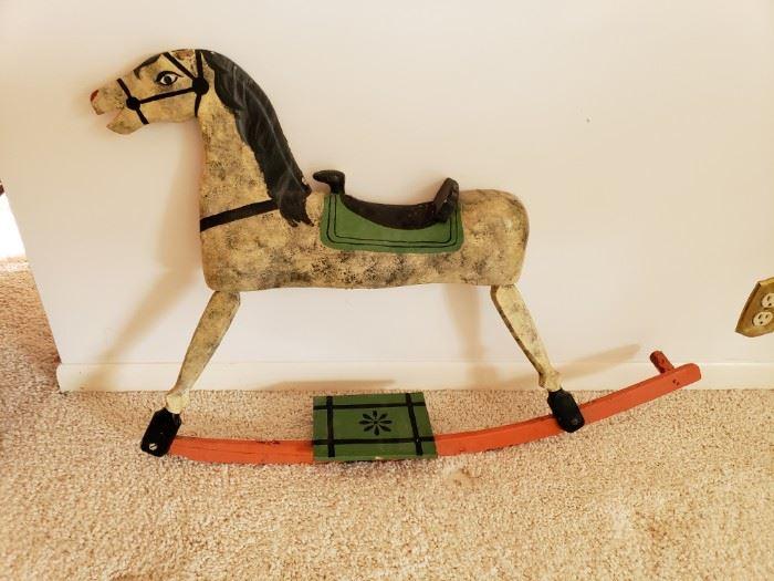 NICE OLD ROCKING HORSE TO DISPLAY