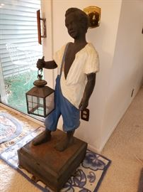 WONDERFUL ANTIQUE CAST IRON LAMP POST...CAME UP FROM LOUISIANA