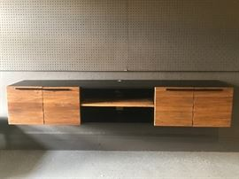 Gorgeous floating console from crate and barrel. https://www.crateandbarrel.com/rigby-80.5-large-floating-media-console/s500833