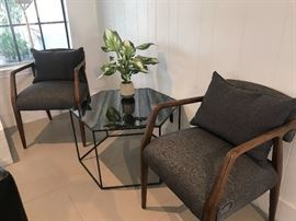 Mid-century style chairs and side table!