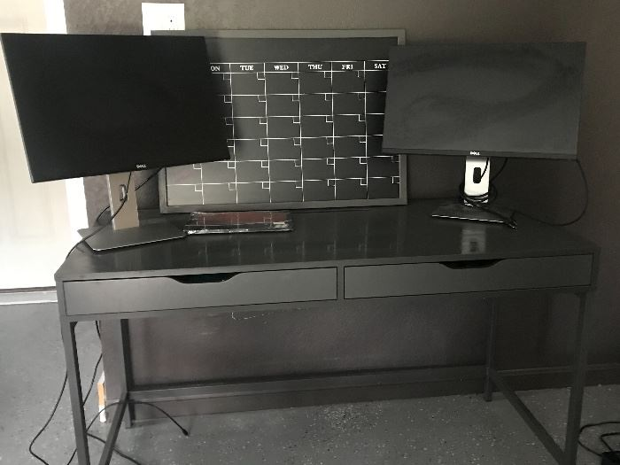 Desk monitors and misc office
