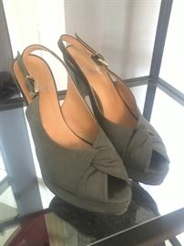Purchased in Italy Gray Suede shoes women's size 8