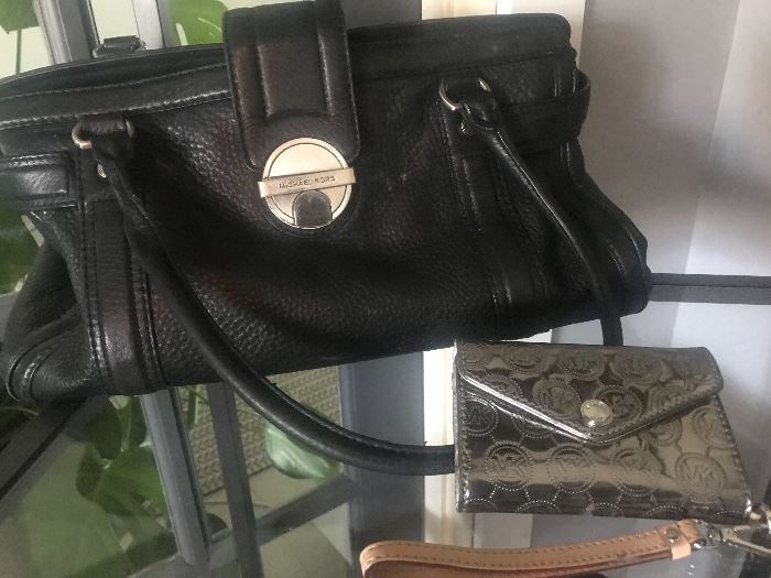 Michael Kors purse and small clutch