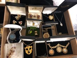 See the Coin necklace in the middle, its Juliana. Coro Sterling  & more.