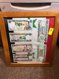 This money was said to have been taken by a soldier from Saddam's palace after it had been bombed.