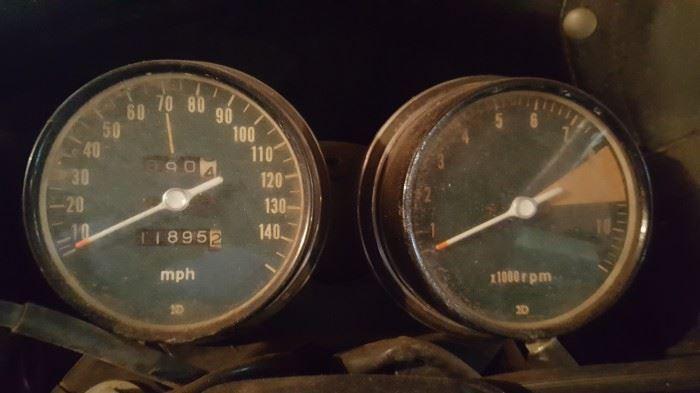 1974. 11,800 miles.  All original