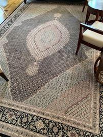 """84. Tabriz Herati Silk and Wool Rug (9'9"""" x 13'9"""")"""