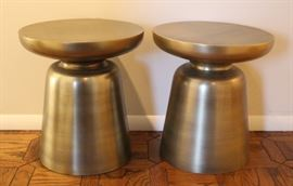 Pair of metal end table/stools.