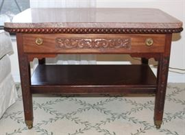Marble top Victorian era table.