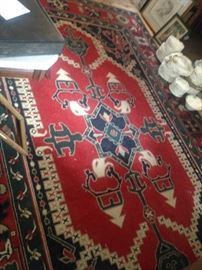 Large vintage wool rug in great condition