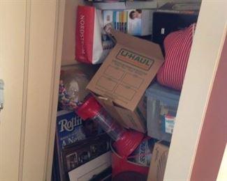 Lots of full closets full of stuff