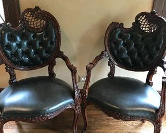 Crazy leather covered chairs