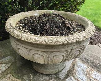 Pr. of large cement planters