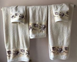 with matching towels