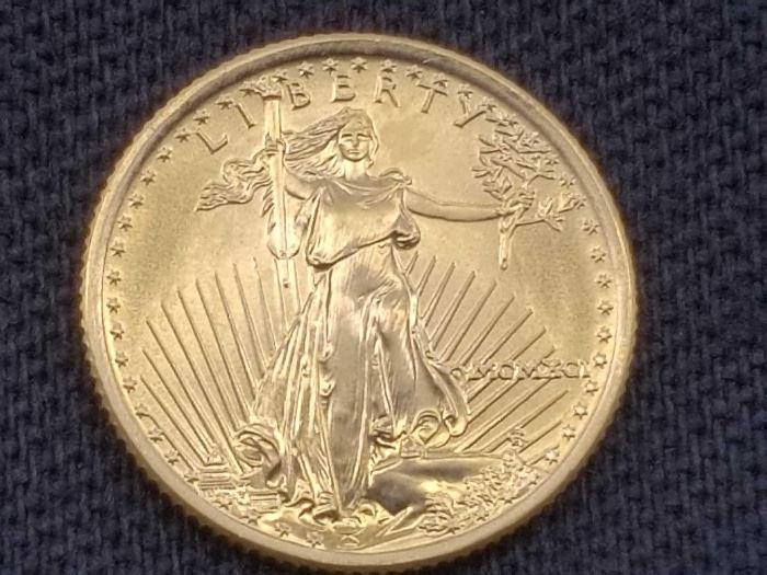 #18: 1991 American Eagle 1/10oz Fine Gold, .999 1991 American Eagle 1/10oz Fine Gold, .999
