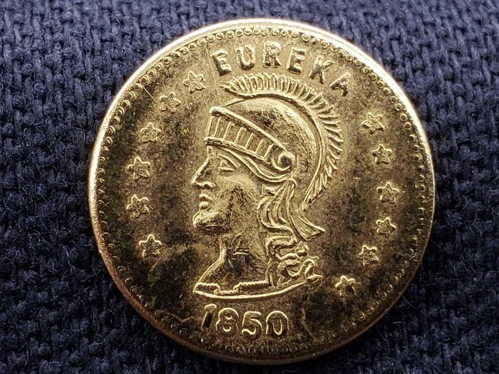 # 21 1850 California Gold Coin, Eureka, .7g 1850 California Gold Coin, Eureka, .7g